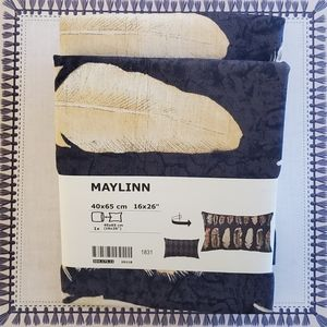 IKEA Maylinn Cushion Cover Blue Multicolor 16x26''